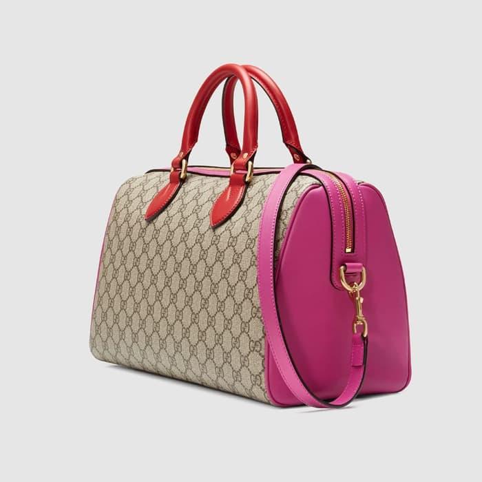tas-gucci-gg-supreme-boston-bag-hibiscus-pink