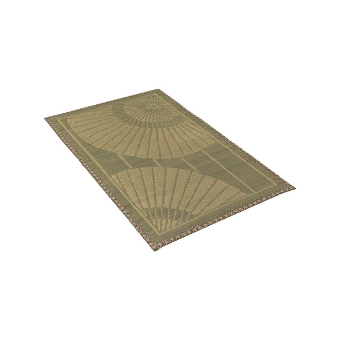 Karpet_Igusa_Hagihara_Motif_Payung_Jepang_Warna_Hijau