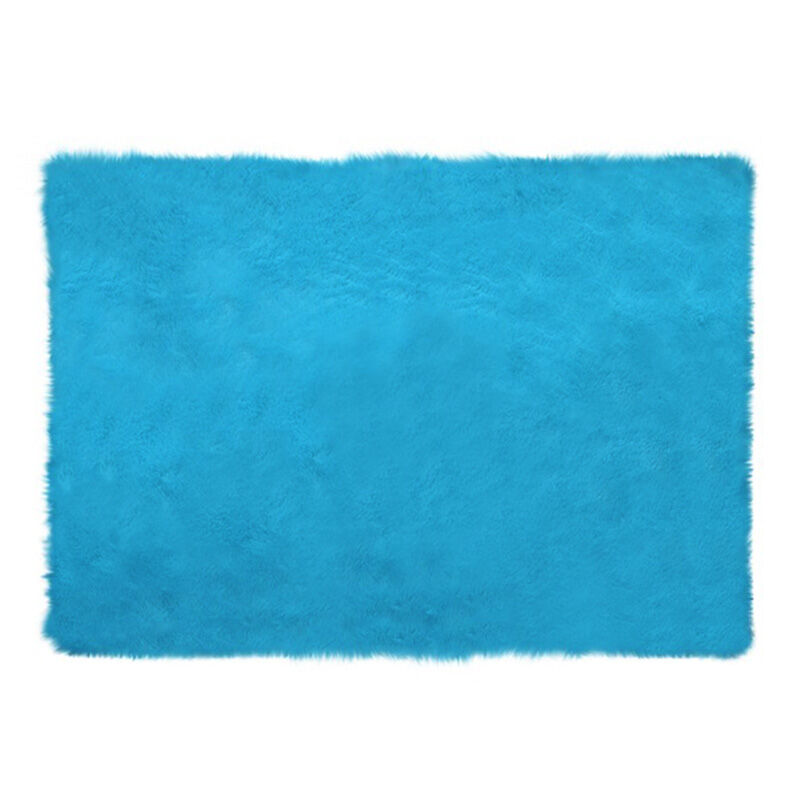 Glerry_Home_Décor_Square_Blue_Mint_Fur_Rug