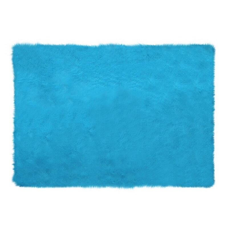 Glerry_Home_Décor_Square_Blue_Mint_Fur_Rug