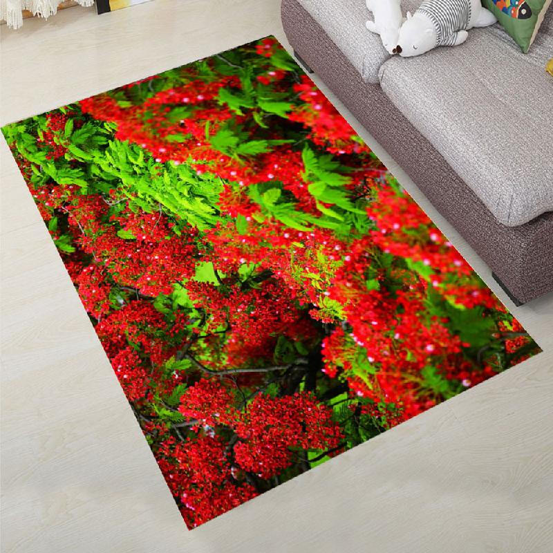 Karpet_Baellerry_Bedroom_Floor_Mat_Sweet_Lifesome_Flowers_Pattern_Anti_slip
